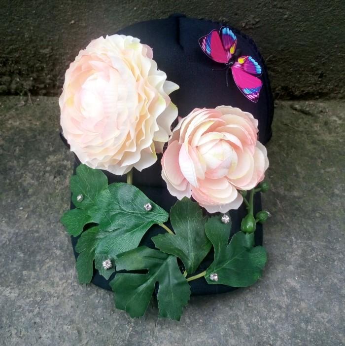 2016夏季新款手工定制仿真花朵帽子 立体配饰嘻哈帽派对鸭舌帽