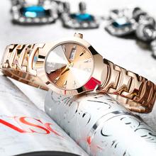 正品韩版简约女士手表石英表防水超薄女表水钻表时尚精钢女士腕表
