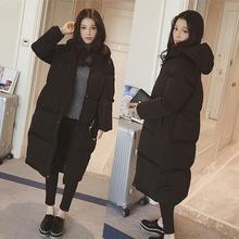 chic韩版棉服女冬季外套棉袄学生过膝韩国面包服情侣棉衣女中长款