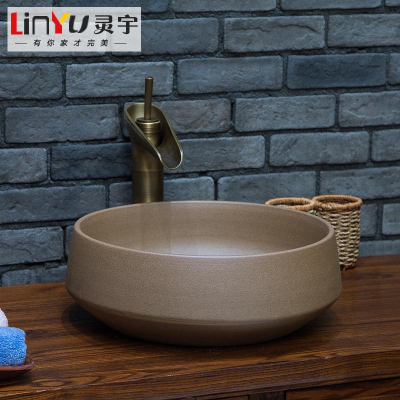 包邮欧式仿古盆台上盆陶瓷艺术盆洗手盆洗脸盆中式