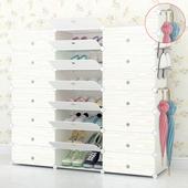 简易鞋柜鞋架多层家用实木纹简约现代组装经济型防尘塑料宿舍收纳
