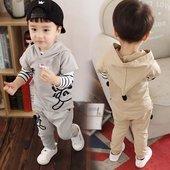 2017新款春装男小童宝宝春季长袖套装1-2-3周岁婴幼儿童装三件套