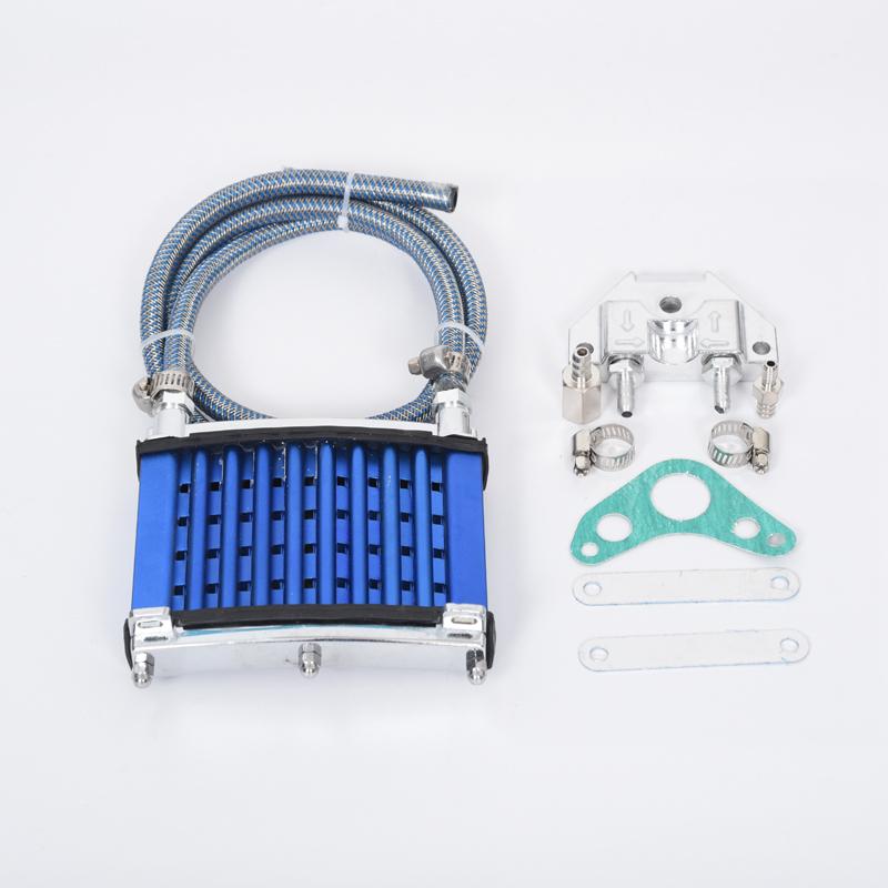 摩托车散热器机油冷却器油冷器套件卧机配件弯梁摩托车100 改装