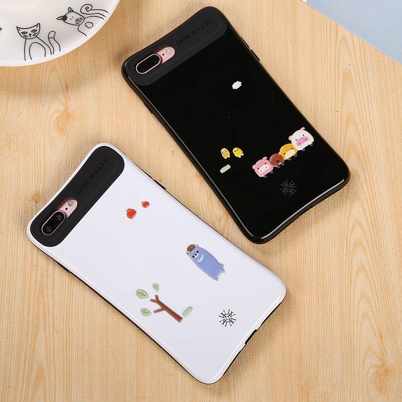 简悦苹果7plus手机壳女款硅胶个性创意iphone7保护套新款防摔韩国