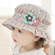 女宝宝帽子夏天薄款女孩遮阳帽出游婴儿太阳帽1-2岁儿童盆帽春秋