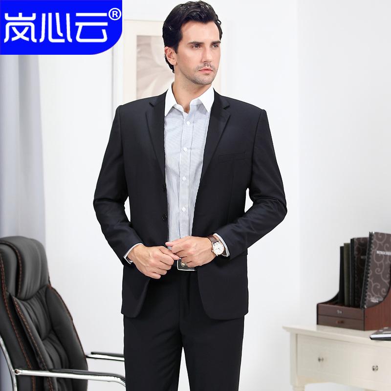 2016商务男装韩版职业正装西服套装男士西装男修身新郎结婚礼服