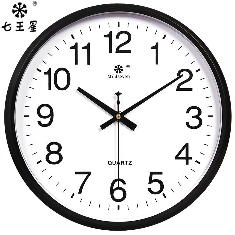 圆形简约时尚挂钟客厅卧室办公室时钟静音现代创意挂表石英钟表
