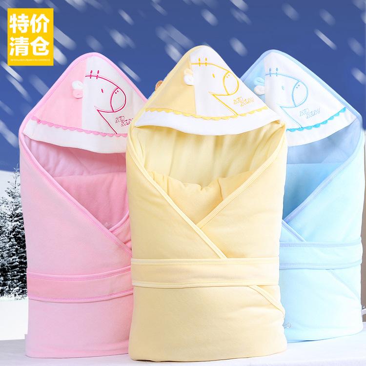 可脱胆幼儿纯棉用品睡袋童抱毯新生宝宝秋冬婴儿包被