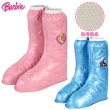 芭比儿童雨鞋套男童女童小孩雨靴宝宝幼儿园小童胶鞋学生防滑水靴