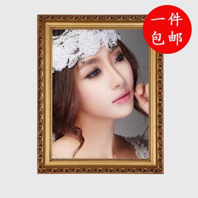 实木相框欧式像框架创意洗婚纱照片墙挂墙相筐12寸16
