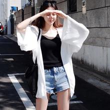 2017新款夏季韩版防晒衣女中长款开衫海边沙滩服百搭薄款外套潮