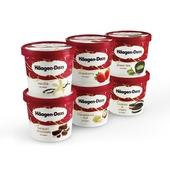 哈根达斯冰淇淋品牌经典套装 小纸杯(6个装)全国同城代购外送