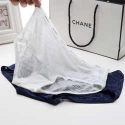 内裤女士冰丝面料透明性感诱惑低腰纯棉质内裆大码蕾丝中腰三角裤