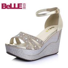 Belle/百丽2015夏季混合材质时尚舒适女凉鞋81-31BL5图片