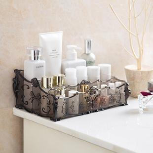 居家家 梳妆台透明化妆品收纳盒 桌面塑料多格整理盒护肤品置物架