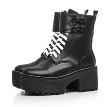 艾曼达轩美诗奥古狮登艾米娜女鞋旗舰店专柜正品马丁靴粗跟短靴子