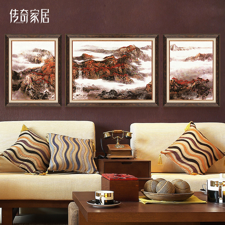 简约现代欧式挂画沙发背景墙画