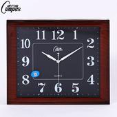 康巴丝客厅挂钟卧室办公壁钟静音经典艺术石英钟简约方形时尚钟表
