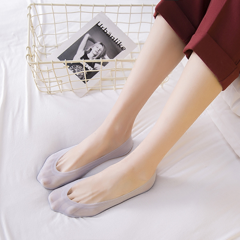 短袜丝袜硅胶纯棉袜子夏季隐形茶颜船袜女冰丝防滑