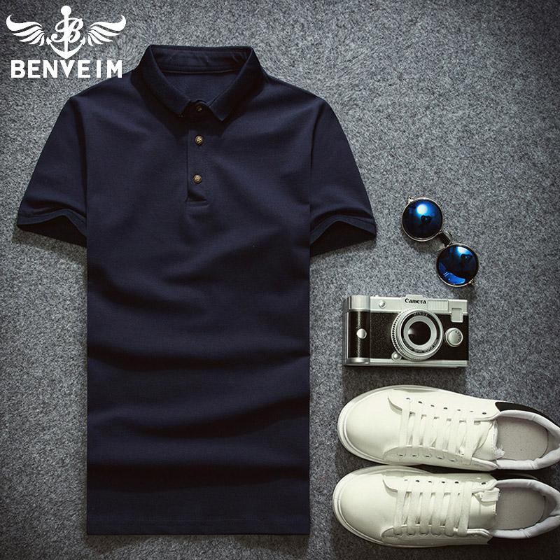 2016夏季男士短袖t恤纯色翻领POLO衫定制韩版修身潮微领保罗衫