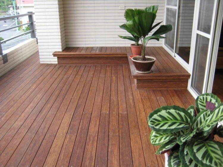 【莎莉花园】户外地板 防腐木地板 印尼菠萝格\印茄木 含安装