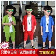 三件套6岁男孩7表演服8演出服 儿童5小西装 4夏季套装 男童3礼服套装