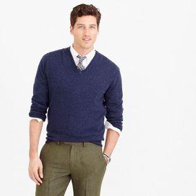 美国正品代购 J.Crew 秋冬新品 男装|舒适混色优质V领羊绒衫|多色