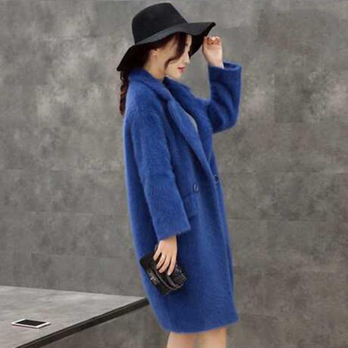 外套西装长款宽松大衣秋冬毛呢 毛呢大衣