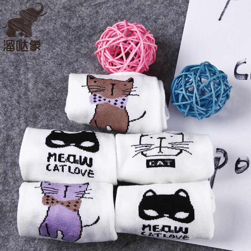 小猫浅口日系超仙森系短袜夏季女船袜女隐形袜子可爱溜哒象