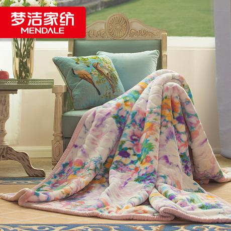 梦洁家纺魅影艺术毯休闲家居睡眠盖毯加厚保暖冬季毯O2O专柜同款商品大图