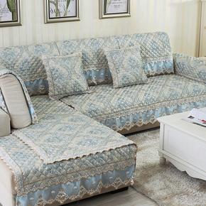 四季欧式沙发垫奢华亚麻布艺防滑组合皮沙发套沙发巾沙发坐垫子秋
