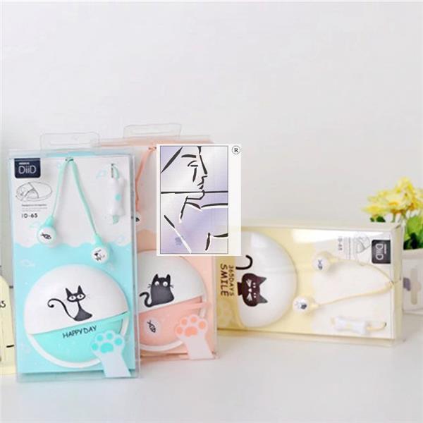 包邮 可爱韩版龙猫入耳式耳机 手机带麦卡通耳塞女生线控送耳机盒