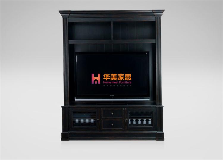 美式新古典实木家具定制全实木电视柜高柜时尚简约电视桌/储物柜