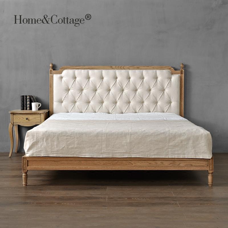欧式床 法式乡村橡木实木架子床