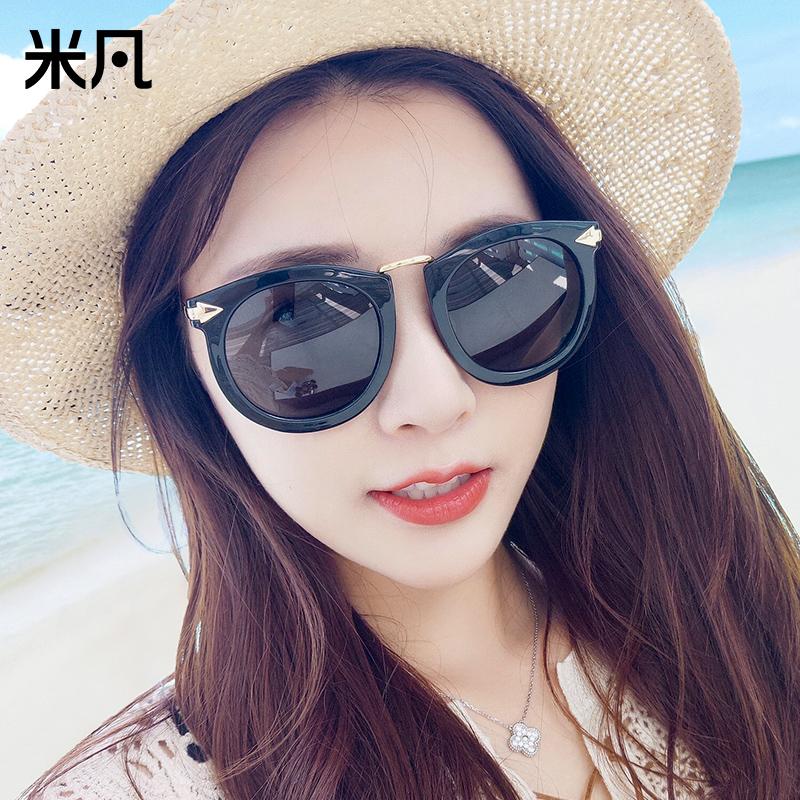韩版新款潮太阳镜女士墨镜女眼镜偏光镜驾驶眼镜大框圆脸太阳镜女