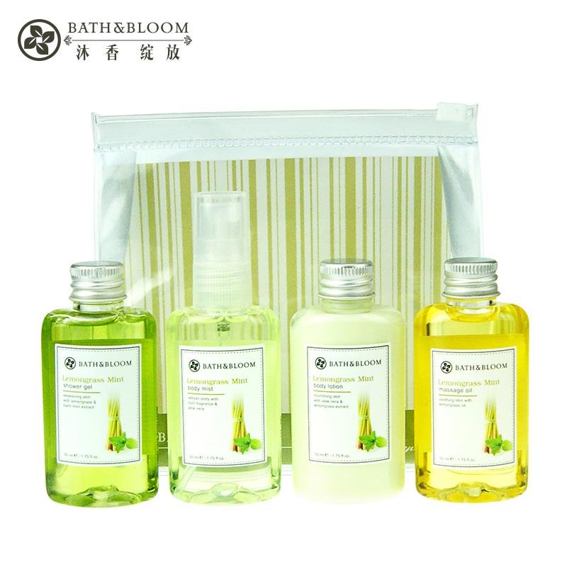 泰国Bath&Bloom柠檬草身体护理旅行装4件套 补水保湿护肤便携套装