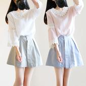 春夏季小清新甜美两件套连衣裙女学院风可爱学生软妹套装短裙子