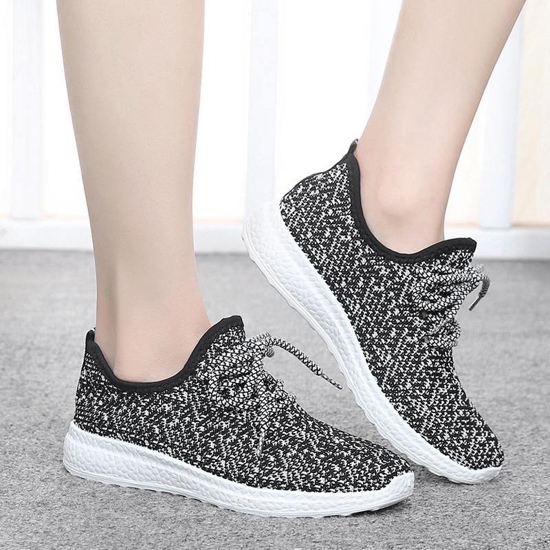 女厚底平底跑步椰子春季休闲鞋运动鞋爆米花