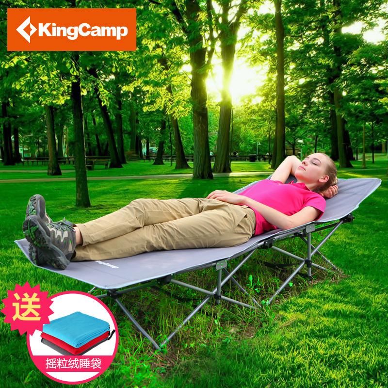 kingcamp户外午休床行军床睡椅办公室陪护床简易折叠床单人午睡床