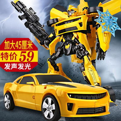 手办变形玩具金刚5大黄蜂变身汽车机器人电影模型正版儿童男孩4