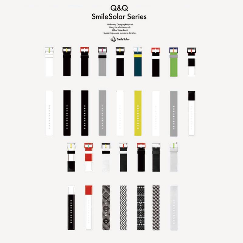 光能时尚百搭潮流表带 系列 Solar Smile Q & Q 西铁城旗下
