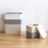 懒角落 加厚收纳箱大号抽屉 整理箱 有盖塑料储物箱收纳盒 62801