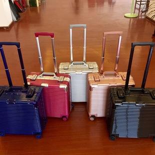 商务18寸拉杆箱电脑箱子登机箱小行李箱短途旅行箱包16/17寸横款