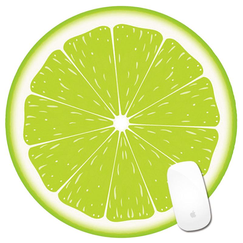 创意可爱卡通笑脸圆形水果鼠标垫护腕鼠标垫定做广告鼠标垫