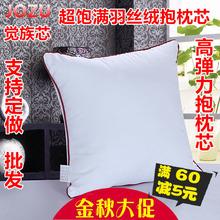 沙发抱枕芯靠枕芯十字绣靠垫芯子40455055606570靠背方枕芯