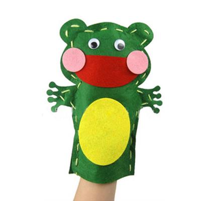 儿童手工制作材料幼儿园diy不织布材料包动物手偶讲故事不织布