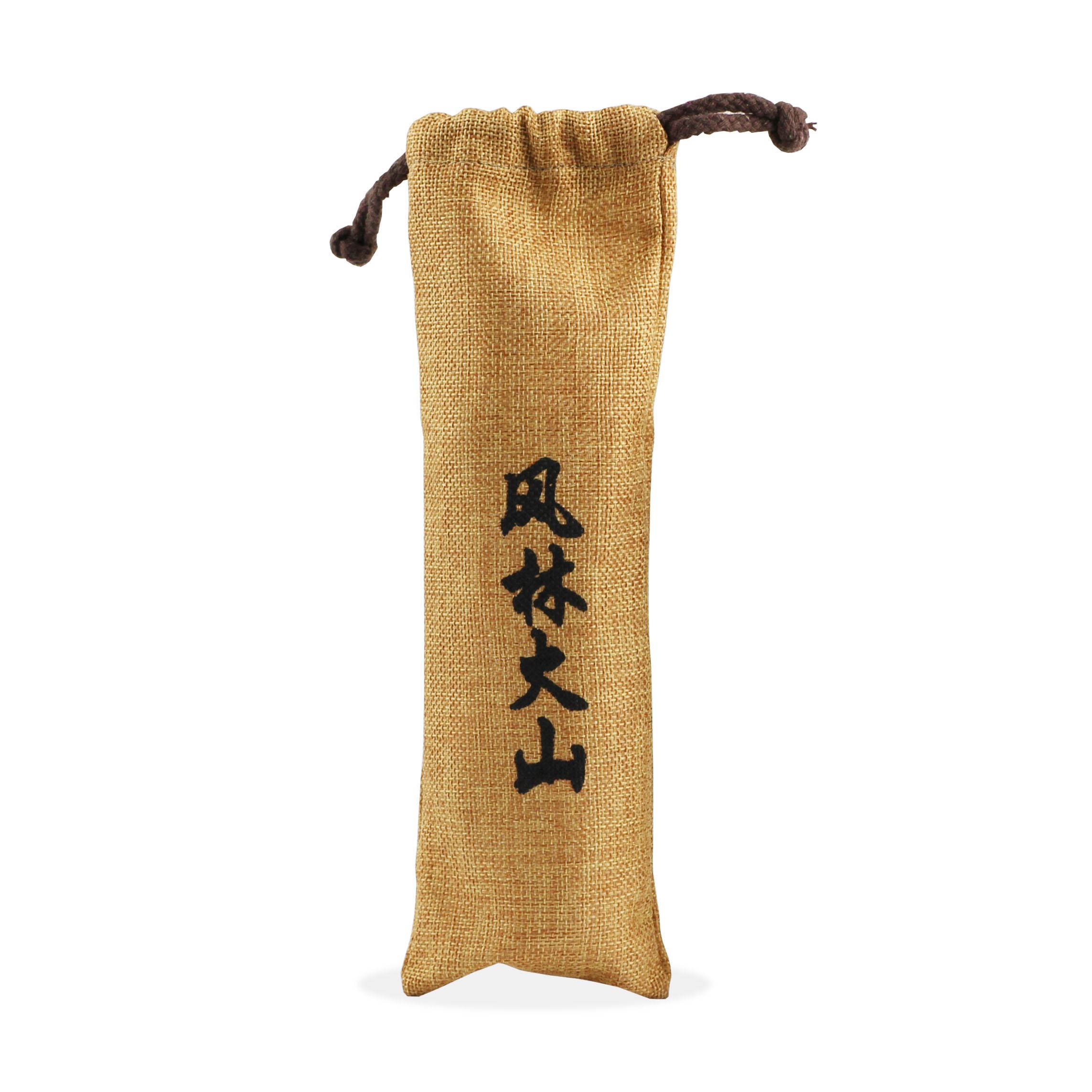 yaosir乒乓球盒收纳盒收纳袋袋子风林火山亚麻布袋可装6只球