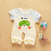 3个月6衣服1岁夏季男女宝宝夏装 哈衣婴幼儿0 婴儿连体衣纯棉短袖
