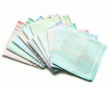 10条22元包邮 出日本 小织条 全棉手帕 高档 女士手帕 男士手帕