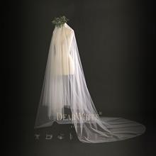 亲爱的白原创正品《云霜》素纱结婚婚礼婚纱韩式超长款新娘头纱